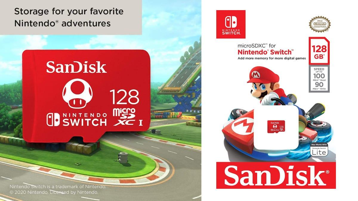 Tarjeta microSDXC SanDisk de 128GB para Nintendo Switch barata, tarjetas de memoria baratas, chollo