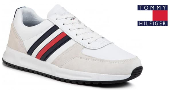 Zapatillas para hombre Tommy Hilfiger Modern Corporate Leather Runner baratas, zapatillas baratas, ofertas calzado, chollo