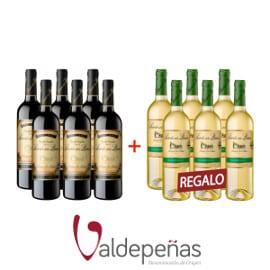 2 botellas Señorío de los Llanos D.O. Valdepeñas baratas, vino barato