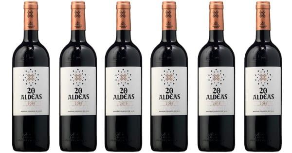 6 botellas de vino 20 Aldeas 2018 VT Castilla y León baratas, vino barato, chollo