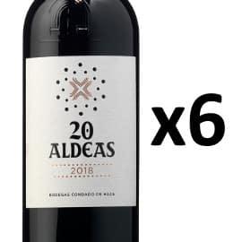 6 botellas de vino 20 Aldeas 2018 VT Castilla y León baratas, vino barato