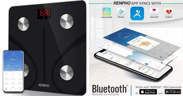 Bascula Electrónica Renpho con App y análisis corporal con 13 mediciones barata, basculas baratas, ofertas casa, chollo
