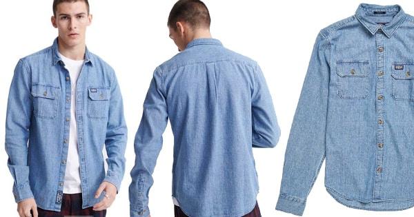 Camisa Superdry Merchant Milled barata, ropa de marca barata, ofertas en camisas chollo