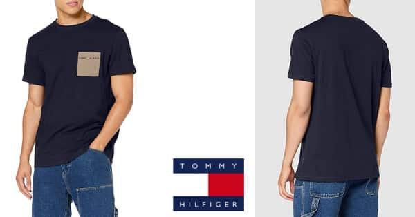 Camiseta Tommy Hilfiger TJM Contrast Pocket barata, camisetas baratas, ofertas en ropa, chollo