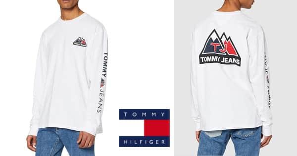 Camiseta Tommy Hilfiger USA Mountain Logo barata, camisetas baratas, ofertas ropa, chollo
