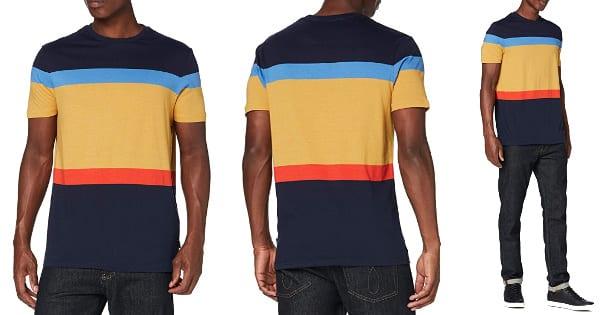 Camiseta de rayas Springfield barata, ropa de marca barata, ofertas en camisetas chollo