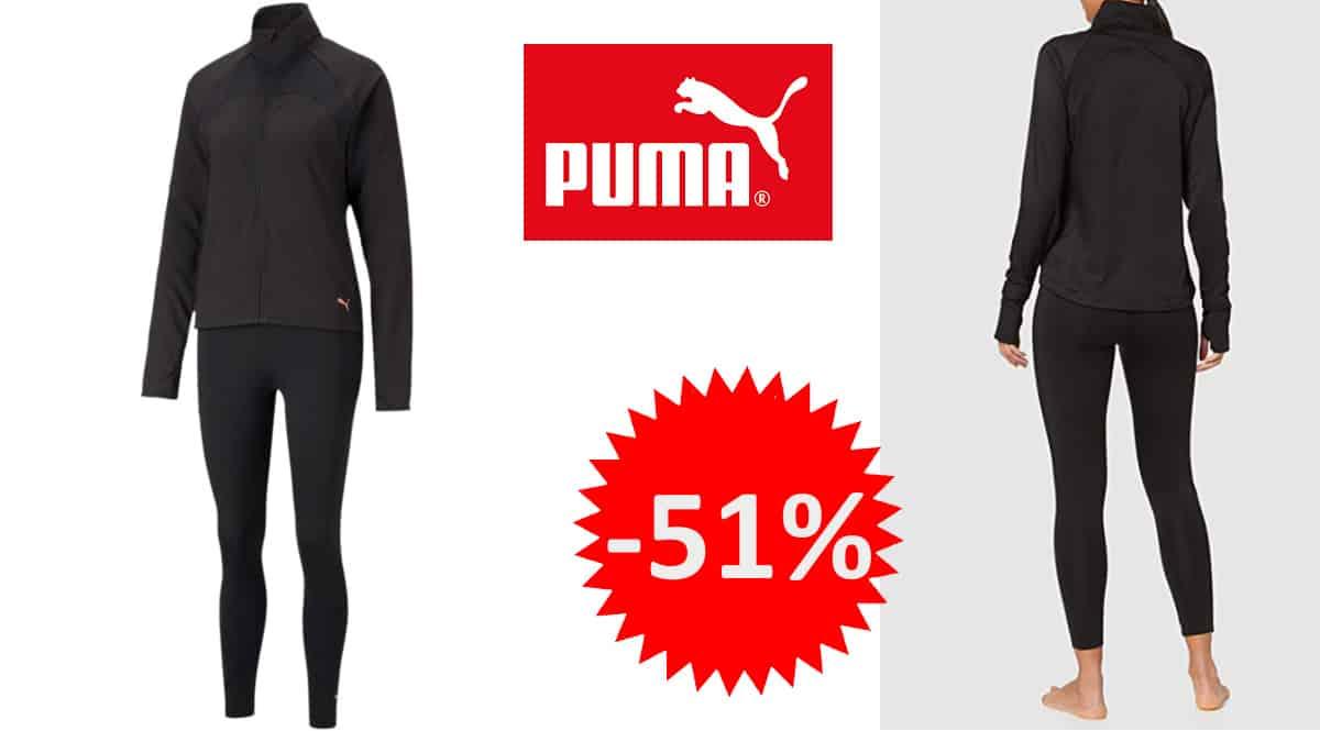 Chándal para mujer Puma Active Yogini Woven Suit barato, chándales de marca baratos, ofertas en ropa de deporte, chollo
