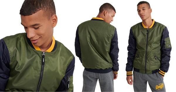Chaqueta Superdry Flight Bomber barata, ropa de marca barata, ofertas en chaquetas chollo