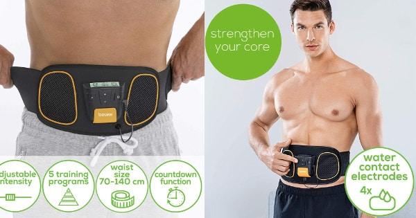 Cinturón de electroestimulación abdominal Beurer EM 32 barato, electroestimuladores musculares baratos, ofertas en material deportivo, chollo