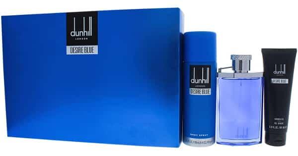 Colonia para hombre Dunhill Desire Blue en set de regalo barata, colonias baratas, ofertas belleza, chollo