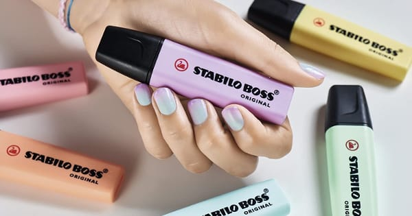 Estuche de 4 marcadores Stabilo Boss en tonos pastel barato, subrayadores baratos, ofertas material escolar, chollo