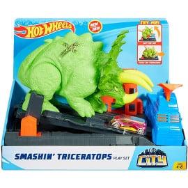 Hot Wheels Ataque del Triceratops barato, juguetes baratos