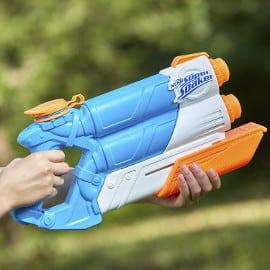 Lanzador de agua Nerf Super Soaker Twin Ride barato, juguetes baratos