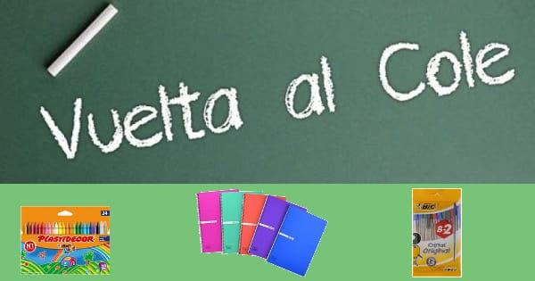 Ofertas para la Vuelta al cole, material escolar barato, chollo