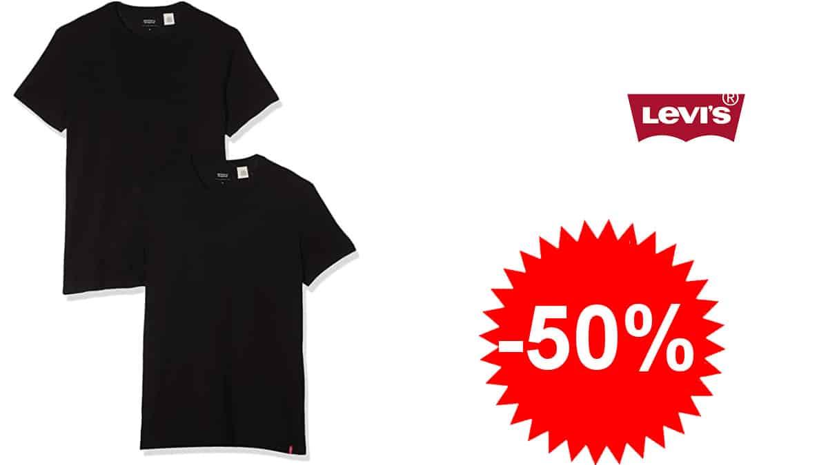Pack de 2 camisetas básicas Levi's Pack Crew baratas, camisetas baratas, ofertas en ropa, chollo
