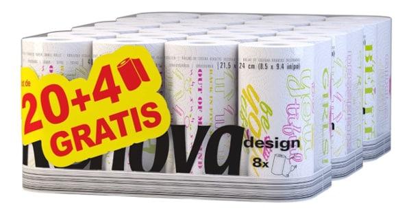 Pack de 24 rollos de papel de cocina Renova baratos, papel de cocina barato, ofertas supermercado, chollo