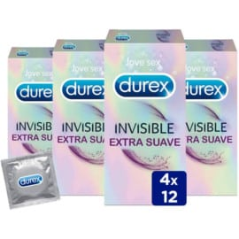 Pack de 48 preservativos Durex Invisible barato. Ofertas en preservativos, preservativos baratos