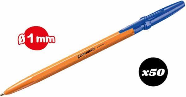 Pack de 50 bolígrafos azules Corvina 51 Vintage barato, ofertas en material de oficina, bolígrafos baratos, chollo