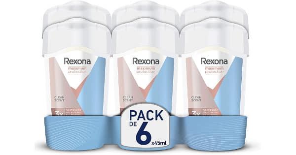 Pack de 6 desodorante en crema Rexona Maximum Protection baratos, desodorantes baratos, chollo