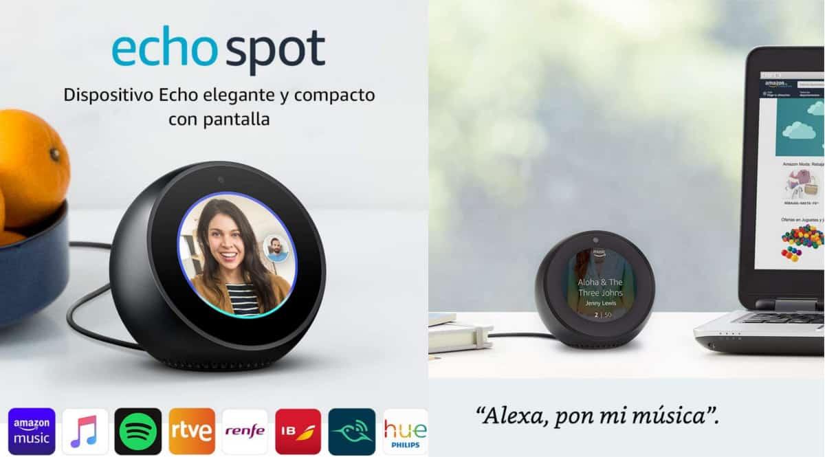 Pantalla inteligente Amazon Echo Spot barato, chollo