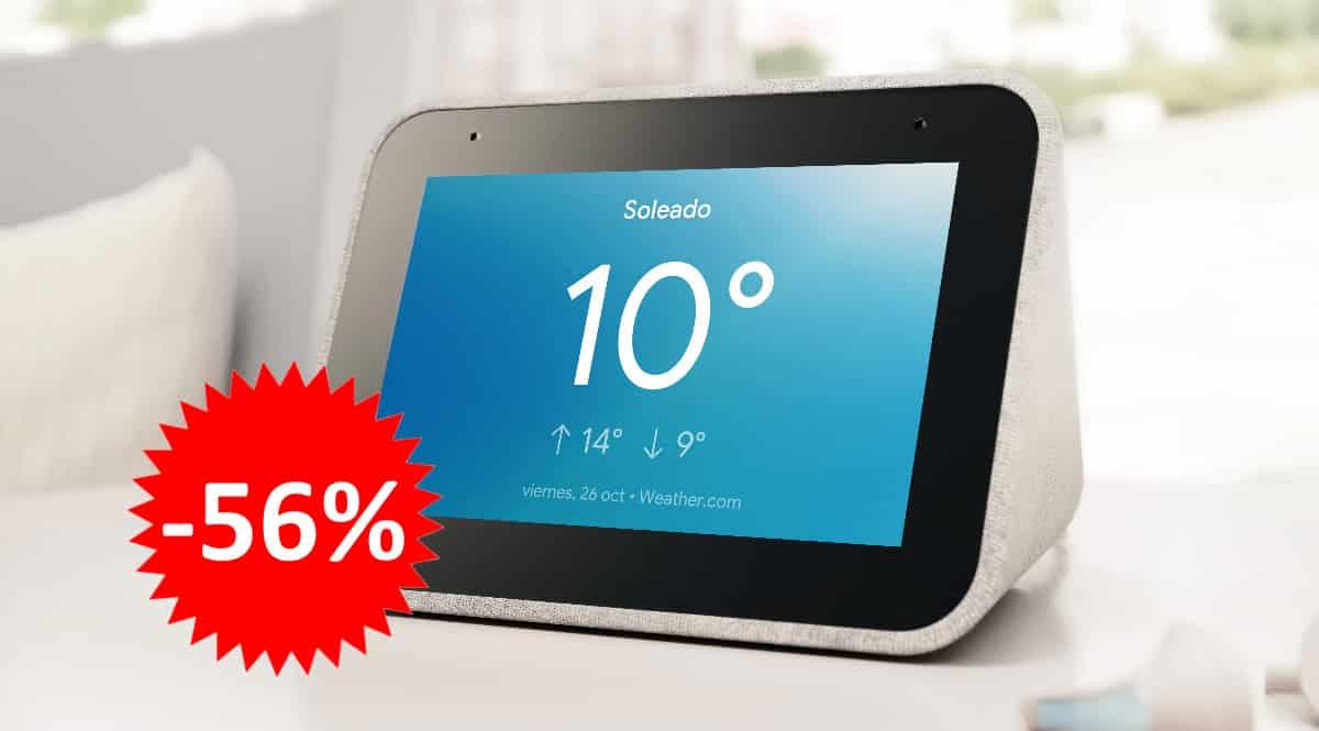 Pantalla inteligente Lenovo Smart Clock barato. Ofertas en dispositivos inteligentes, dispositivos inteligentes, chollo