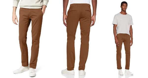 Pantalones chinos casual slim fit Hugo Boss baratos, ropa de marca barata, ofertas en pantalones chollo