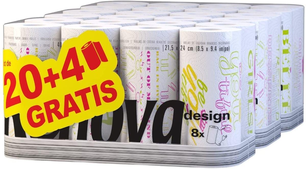 Papel de cocina Renova Desing barato, papel de cocina de marca barato, ofertas supermercado, chollo