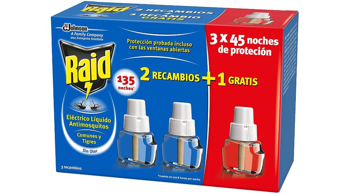 Recambios para Difusor Eléctrico Anti Mosquitos Raid baratos, recambios antimosquitos baratos, ofertas supermercado, chollo