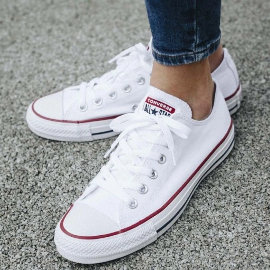 Zapatillas Converse Chuck Taylor All Star blancas baratas, calzado barato, ofertas en zapatillas