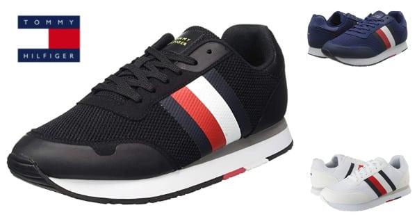 Zapatillas para hombre Tommy Hilfiger Corporate Material Mix Runner baratas, calzado barato, ofertas en zapatillas de marca, chollo
