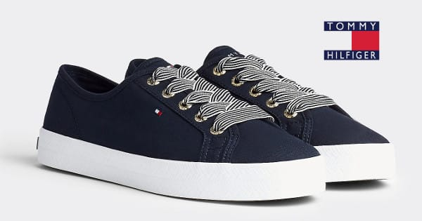 Zapatillas para mujer Tommy Hilfiger náuticas Essential baratas, zapatillas baratas, chollo