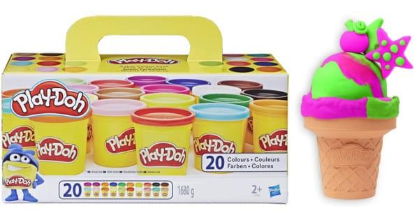 ¡Precio mínimo histórico! 20 botes de plastilina Play-Doh sólo 9.90 euros. 50% de descuento.