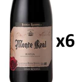 6 botellas de vino D.O. Rioja Monte Real Gran Reserva 2012 baratas. Ofertas en vino, vino barato