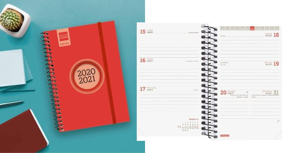 Agenda Finocam, agenda anual barata, ofertas en material de oficina, chollo