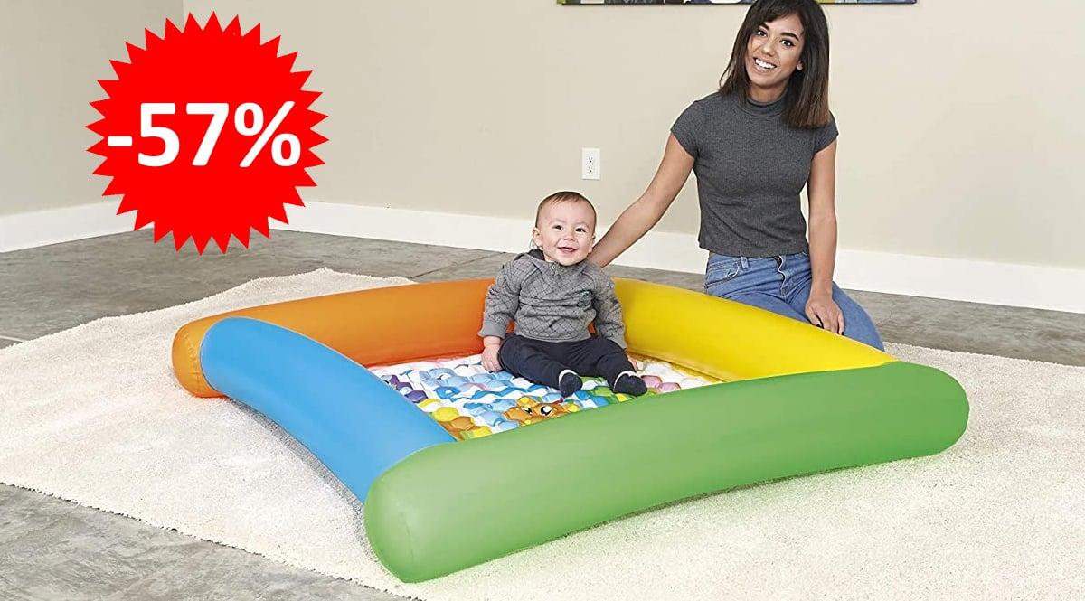 Alfombra de Juegos Hinchable Bestway Friendly Animals barata, alfombras hinchables baratas, ofertas para niños, chollo