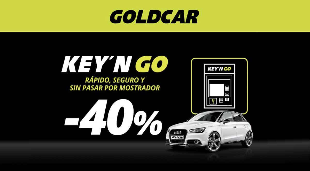 Alquiler de coches Key'n GO Goldcar, alquiler de coches barato, chollo