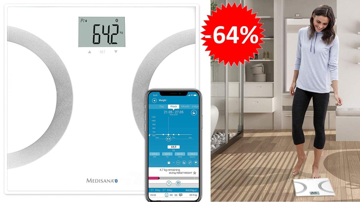 Báscula analítica Medisana BS 445 Connect barata, básculas de marca baratas, ofertas salud y cuidado personal, chollo
