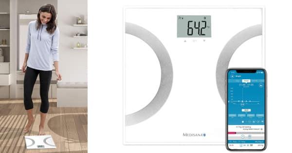 Báscula analítica con Bluetooth y App Medisana BS 445 Connect barata, básculas baratas, ofertas salud y cuidado personal, chollo
