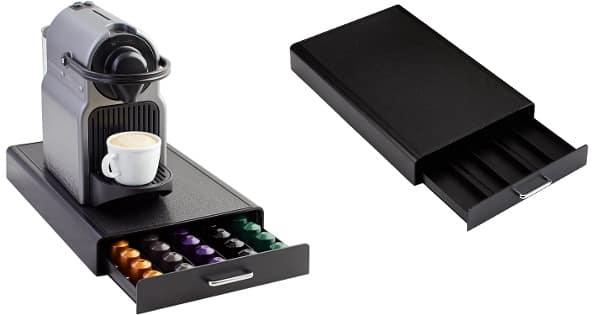 Cajón para almacenar cápsulas de Nespresso AmazonBasics barato, organizadores de cápsulas baratos, ofertas casa, chollo