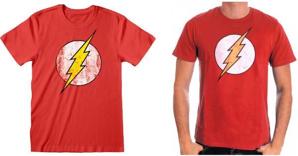 Camiseta Flash Logo DC barata, ropa de marca barata chollo