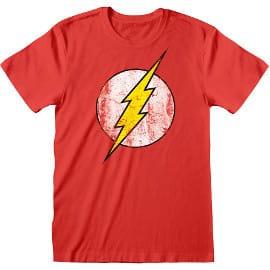 Camiseta Flash Logo DC barata, ropa de marca barata