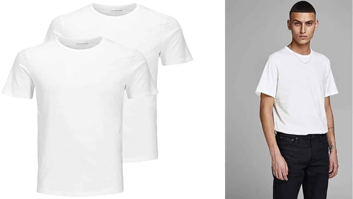 Camisetas básicas Jack & Jones, camisetas baratas, ofertas en ropa, chollo