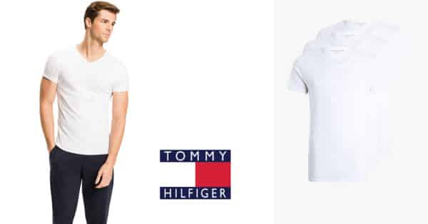 Camsietas básicas Tommy Hilfiger baratas, camisetas baratas, ofertas en ropa de marca, chollo