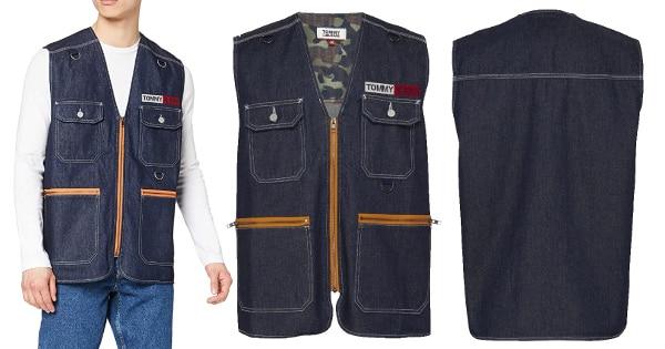 Chaleco Tommy Jeans Denim Fishing barato, ropa de marca barata, ofertas en ropa chollo
