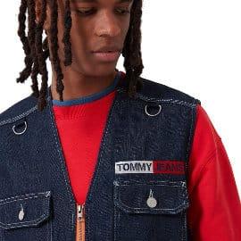 Chaleco Tommy Jeans Denim Fishing barato, ropa de marca barata, ofertas en ropa