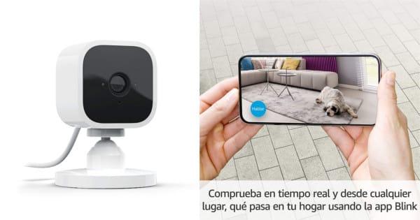 Cámara de seguridad Amazon Blink Mini barata. Ofertas en cámaras de seguridad, cámaras de seguridad baratas, chollo