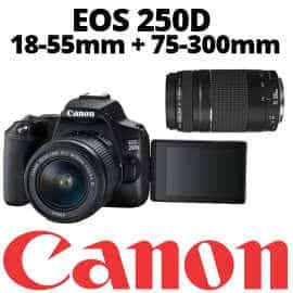 Cámara réflex Canon EOS 250D barata, ofertas en cámaras réflex, cámaras réflex baratas