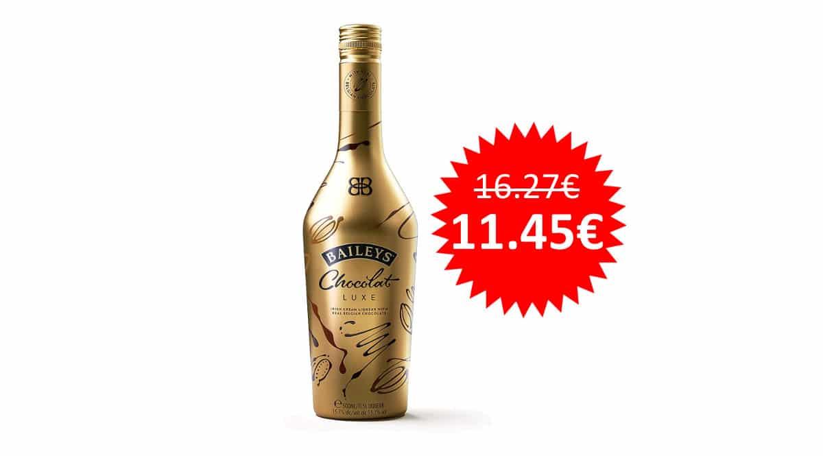 ¡¡Chollo!! Crema de whisky Baileys Chocolat Luxe, botella de 50 cl, sólo 11.45 euros.