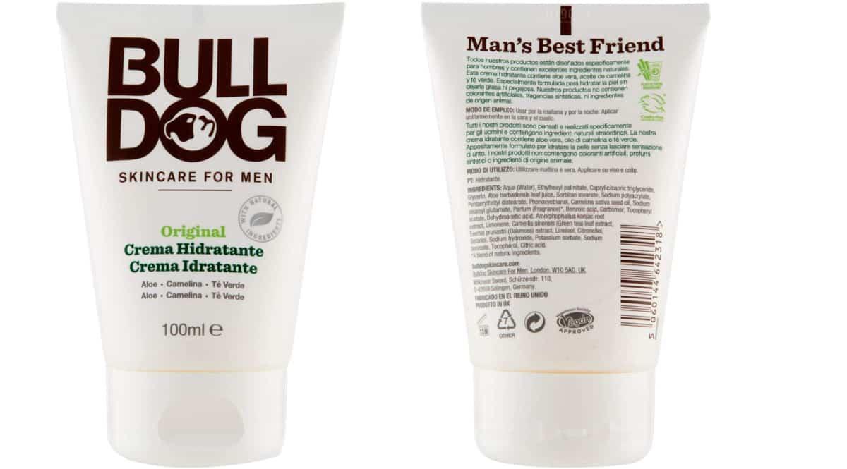 Crema hidratante Bulldog barata, cremas de marca para hombre baratas, ofertas belleza, chollo