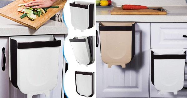 Cubo de basura plegable barato, cubos de basura plegables, ofertas para casa interior chollo